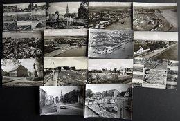 DEUTSCHLAND ETC. TÖNNING, 14 Verschiedene Ungebrauchte Schwarz/weiß Ansichtskarten Aus Den 50iger Jahren - Allemagne