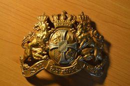 Plaque De Casque à Pointe De Casque Bavarois Réserve Régiment Guerre 14-18 - Helme & Hauben