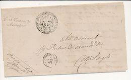 1874 CASTELLAMMARE ADRIATICO CORSIVO NERO DI COLLETTORIA RURALE - 1861-78 Vittorio Emanuele II