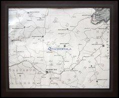 Lauenförde, Die Gegend Von Warburg Bis Lauenförde, Kupferstich Von Papen, 1862 - Maps