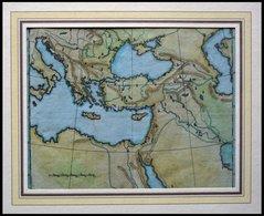 Generalkarte Mit Angrenzenden Ländern, Blindkarte, Kolorierter Kupferstich Von Güssefeld, Weimar 1803 - Maps