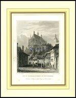 KUTTENBERG: Die St. Barbarakirche, Stahlstich Von Würbs/Poppel, 1840 - Lithographies