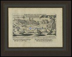 LANDSKRONA, Gesamtansicht, Kupferstich Von Meisner Um 1678 - Litografía