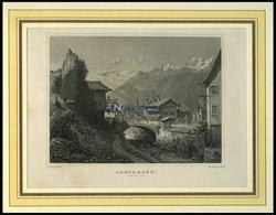 ANDERMATT/URI, Teilansicht, Stahlstich Von Rohbock/Lang Um 1840 - Litografía
