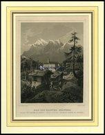 BAD PFÄFFERS/ST. GALLEN, Gesamtansicht Mit Kloster, Stahlstich Von Rohbock/Kolb Um 1840 - Lithographies