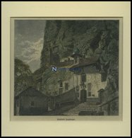 BORGNE: Einsiedelei Longeborgne, Kolorierter Holzstich Um 1880 - Litografía
