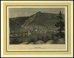 FLEURIER/NEUCHATEL, Gesamtansicht, Stahlstich -Aquatinta Um 1840 - Litografía