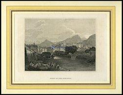 GENF, Gesamtansicht, Stahlstich Von B.I. Um 1860 - Litografía