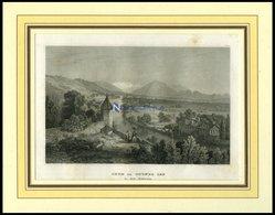 THUN, Gesamtansicht, Stahlstich Von B.I. Um 1840 - Litografía