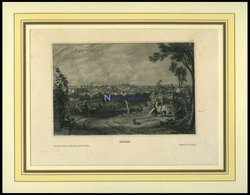 MADRID, Gesamtansicht, Stahlstich Von B.I. Um 1840 - Litografía