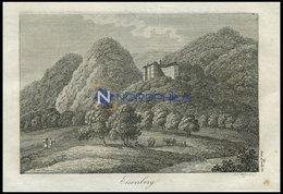 EISENBERG, Zu Bilin/Kgr. Böhmen: Bergschloß Mit Garten Und Wanderern, Kupferstich Von J. J. Wagner Von 1820 - Lithographies