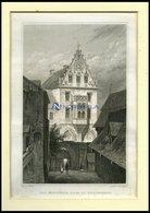 KUTTENBERG: Das Steinerne Haus, Stahlstich Von Würbs/Poppel Um 1840 - Litografía