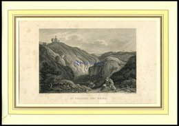 Bei PRAG: St. Procop, Stahlstich Von Richter/Grünewald Um 1840 - Lithographies