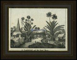 Inselgruppe Der MOLUKKEN: Insel Buro, Lithografie Aus Neue Bildergalerie Um 1840 - Litografía