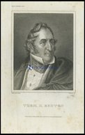 Thom. H. Benton, US-Senator, Stahlstich Von B.I. Um 1840 - Lithographies