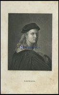 Raphael, Stahlstich Von B.I. Um 1840 - Litografía