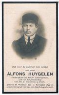 Dp. Oorlog. Huygelen Alfons. ° Waarloos 1892 † Diksmuide 1916 (2 Scan's) - Religion & Esotericism