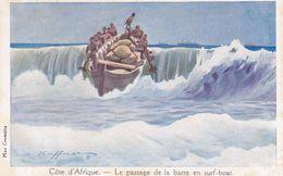 """AFR1  --  COTE D"""" AFRIQUE  --  LE PASSAGE DE LA BARRE EN SURF - BOAT - Non Classés"""