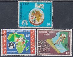Bénin  N° 415 / 17 O   3è Jeux Africains D'Algerl, Les 3 Valeurs  Oblitérations Légères, TB - Bénin – Dahomey (1960-...)