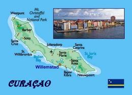 Curacao Island Map New Postcard Curaçao Insel Landkarte AK - Curaçao