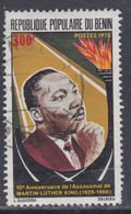 Benin N° 418 O 10ème Anniversaire De La Mort Du Pasteur Martin Luther King,  Oblitération Légère, TB - Bénin – Dahomey (1960-...)