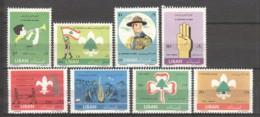 Lebanon, 1962, Scouting, Scouts, Baden-Powell, MNH, Michel 763-770 - Líbano