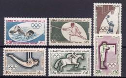Lebanon, 1965, Olympic Summer Games Tokyo, Sports, MNH, Michel 888-893A - Líbano