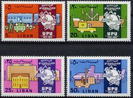 Lebanon, 1974, UPU Centenary, Universal Postal Union, United Nations, MNH, Michel 1206-1209 - Líbano