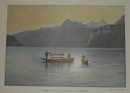 Suisse. Le Lac Des Quatre Cantons Et L'Uriiethstok.. Photogravure Fin XIXe. - Prints & Engravings
