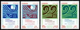 Lebanon, 1966, UNESCO, Hydrological Decade, United Nations, MNH, Michel 975-978 - Líbano