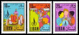 Lebanon, 1968, Human Rights Declaration, United Nations, MNH, Michel 1072-1074 - Líbano
