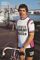 CARTE CYCLISME DANIEL LEVEAU SIGNEE TEAM SERGECO LECOULANT 1979 - Wielrennen
