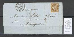 France - Lettre - Montpellier - Ceres 10 Cts- 10 % DE LA COTE - Yvert 1 - 1852 - Postmark Collection (Covers)