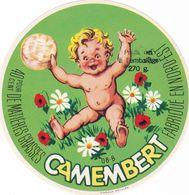 ETIQUETTE DE FROMAGE  CAMEMBERT -  LE BEBE -  Fab En CHAMPAGNE - ARDENNES 08-B - Fromage