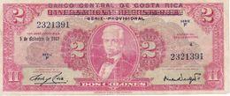 BILLETE DE COSTA RICA DE 2 COLONES DEL AÑO 1967 (BANKNOTE) - Costa Rica