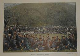 Suisse. Interlaken, Fête Militaire. Photogravure Fin XIXe. - Prints & Engravings