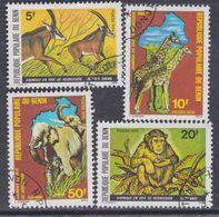 Benin N° 457 / 60 O Animaux En Voie De Disparition, Les 4 Valeurs  Oblitérations Moyennes, TB - Bénin – Dahomey (1960-...)