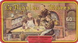 ETIQUETTE DE FROMAGE  DEMI-CARRE -  LE REGAL DES MOINES -   Fab En HTE SAONE  70 - Käse