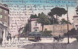 ROMA - SALITA MAGNANAPOLI E INGRESSO A VIA NAZIONALE - FILOBUS / TRAM IN PRIMO PIANO - CARROZZELLA - 1916 - Trasporti