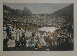Suisse. Interlaken, Fête Alpine. Photogravure Fin XIXe. - Prints & Engravings