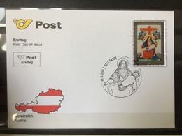 Oostenrijk / Austria - FDC Glass Stamp, Piëta 2016 VERY UNIQUE ITEM - 1945-.... 2nd Republic