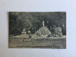 YVOIR  GROTTE PROVISOIRE DE N.D. DE LOURDES DANS L' ORPHELINAT D' YVOIR - CARRIERE 31 MAI 1909 - Yvoir