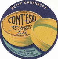 ETIQUETTE DE FROMAGE  - PETIT CAMEMBERT -  COMT'ESKI -  Fab En FRANCHE COMTE - Fromage