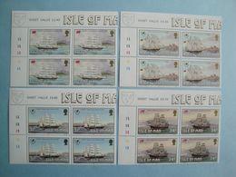Bateaux 1988 Man Yv 371/4 X 4 ** MNH Michel 371/4  Scott 367/70  SG  385/8  Ships  Voiliers - Isola Di Man