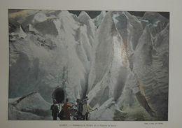 Suisse. Grindelwald.Entrée De La Grotte De Glace. Photogravure Fin XIXe. - Prints & Engravings