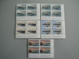 Bateaux 1989 Jersey Yv 485/9 X 4  ** MNH Michel 491/6 Scott 522/6 SG 507/11  Ships  Vapeurs De La Ligne - Jersey