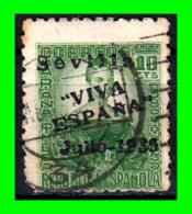"SEVILLA , SOBREIMPRESIÓN PATRIÓTICA, 1937, "" SEVILLA ARRIBA ESPAÑA ""1936 - 1931-Aujourd'hui: II. République - ....Juan Carlos I"