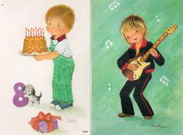 Brodée - 2 CP - Enfants - Guitare - Gateau Anniversaire - Habits Brodés - Coni - Constanza - - Brodées