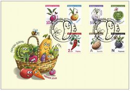 Belarus 2020 Seventeenth Definitive Issue. Vegetables 2 FDC - Bielorussia