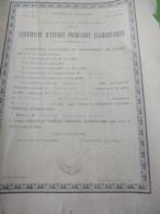 Diplôme De Certificat  D'Etudes Primaires Elémentaires/Académie De CAEN/ Dépt De L'EURE/Marcel Criquebeuf/1906    DIP240 - Diploma & School Reports
